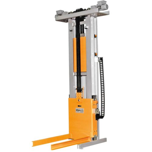 Car body lifter SPEED + SILENT linear guides · with stand by drives for max. availability and locking devices for carriage ·low maintenance
