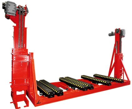 Two pillar lifting unit electrical synchronized without shaft ·  with telescopic forks