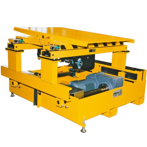 Tool changing system with tilting unit · telescopic forks and eccentric lift ·  load capacity 1 t
