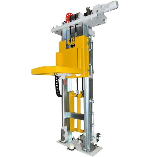 Car body lifter  ·  comact up to 1 t ·  SPEED + SILENT linear guides · with stand by drives for max.availability and locking devices for carriage