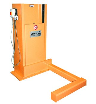 Stationary lifting unit for special pallets load capacity 1t with tilting device ·  2x15°