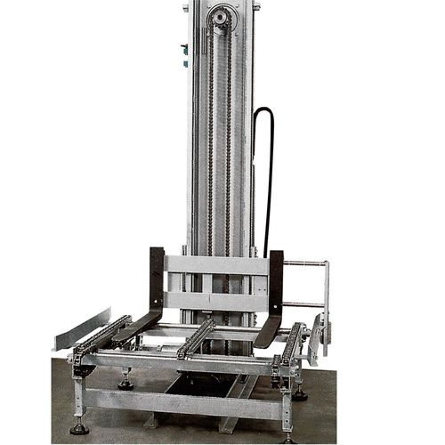 Lifter for palletizing with carriage and forks