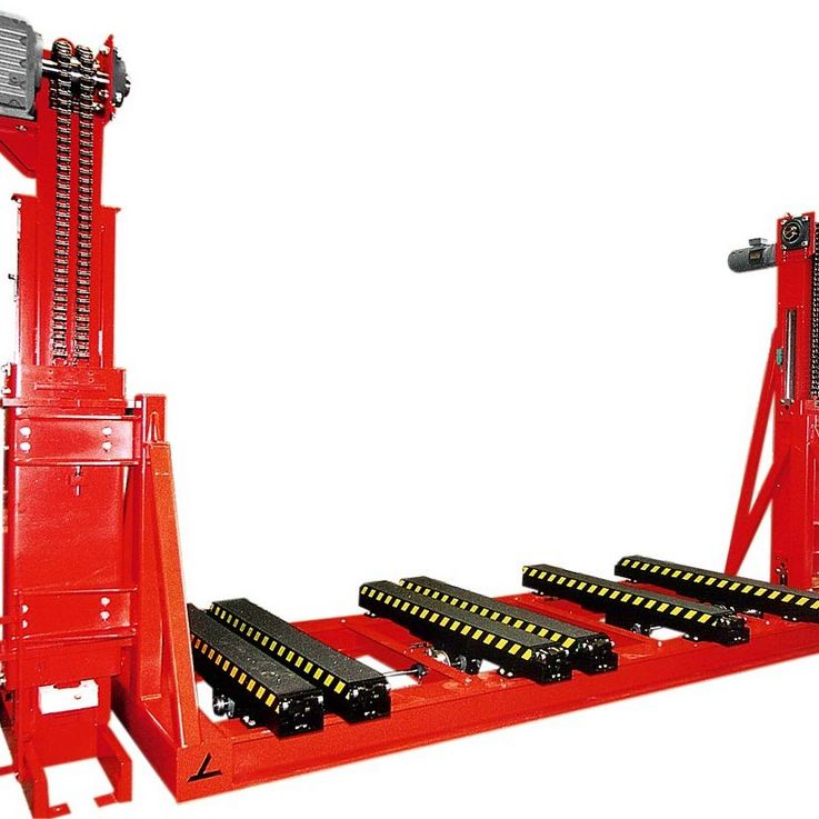 Lifting units with telescopic forks