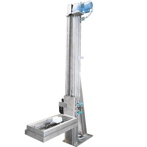 Stainless steel lift masts made out of S 304 MONO · SIMPLEX · DUPLEX · TRIPLEX – load capacity up to 1 · 5 t for fork lift trucks or stationary use · hydraulically or electro-mechanically powered