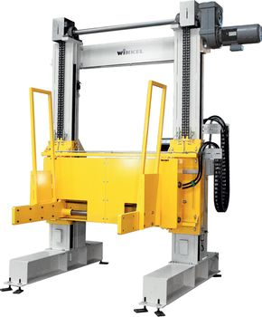 Two pillar lifting unit · with paper clamp.