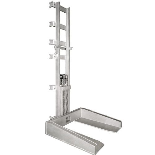 Stainless steel lift masts made out of S 304 MONO · SIMPLEX · DUPLEX · TRIPLEX – load capacity up to 1.5 t for fork lift trucks or stationary use · hydraulically or electro-mechanically powered