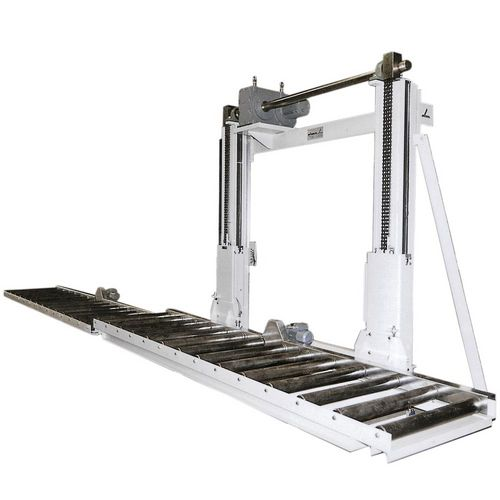 Two pillar lifter with conveyor · load capacity 0.5-6 t