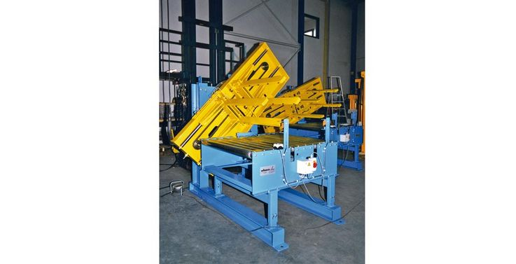Cellulose bale turning unit with clamping device ·  load capacity : 500kg