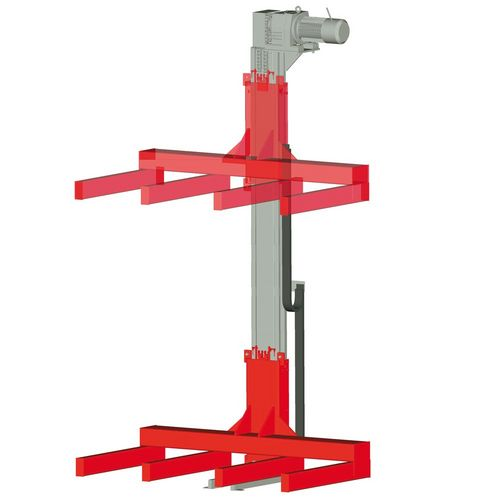 Pallet lifter · with special load frame for long conveyors ·  load capacity 0.5 t - 2.5 t.