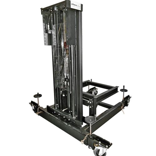Stage Lifting Unit People Up Lifter · manual moveable with locking device · low noise · load capacity : 600 kg.