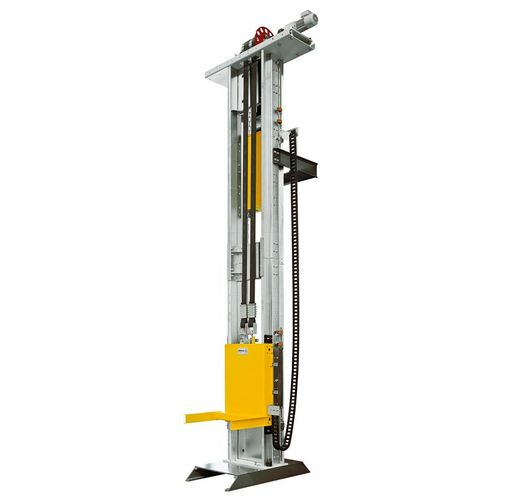 WINKEL automotive lifter compact up to 0.8t ·  SPEED + SILENT linear guides with stand by drives for max. availability