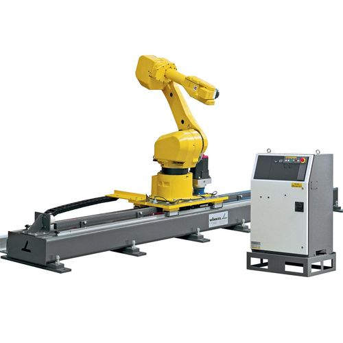 Robot tracks  ·  Type RLE – 1500 · Weight of robot (kg) max 1500  ·  upright position : yes  ·  hanging position : yes  ·  Drive : rack and pinion  ·  Linear guide : LM guide