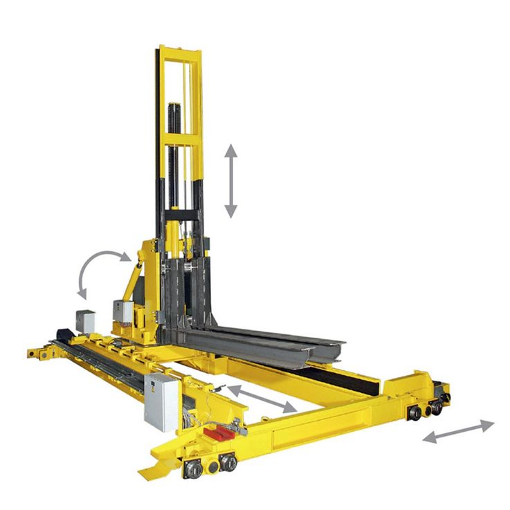 WINKEL lifting and driving unit  ·  Automotive Industry  ·  handling unit for hardening process · lifting · moving · tilting · turning · load capacity 3 t at 5.000 mm LC
