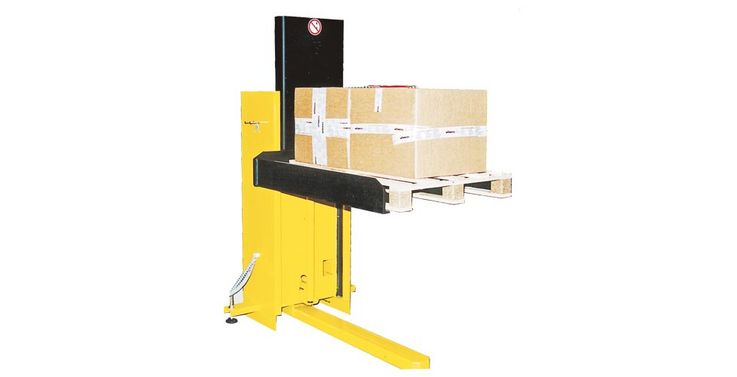 WINKEL pallet lifter PALI 10 the universal lifter with 230 V supply. Easy loading at the same level with hand pallet truck to every working place.