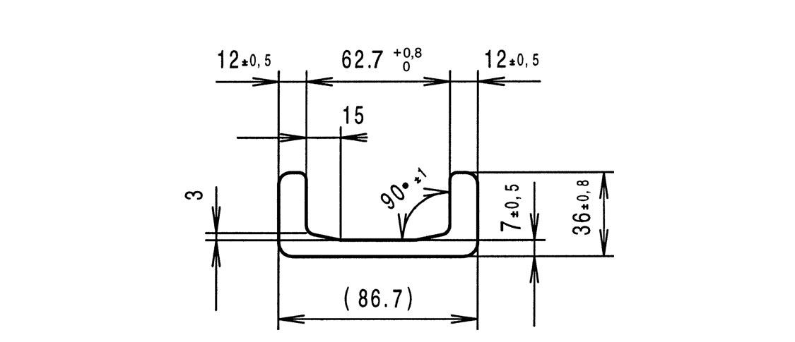 Flächenträgheitsmoment u profil
