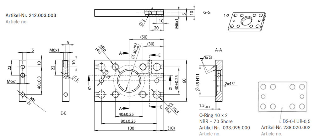 Flange Plate AP 0-LUB | 										 Article No.: 212.003.003
