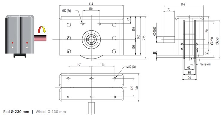 Axial-Roller guides RA-40