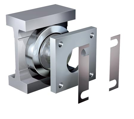 Flange plates square for Jumbo WINKEL-Bearings