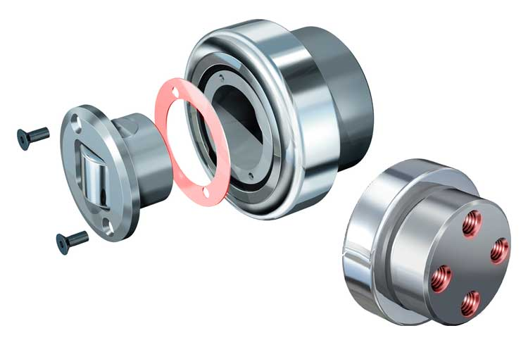 Precision WINKEL-Bearing with combined bolt