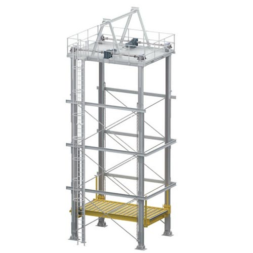 WINKEL 4 pillar lifter with chain WPH4 · motor in top position · load capacity 1.5-12.5 t with WINKEL bearings