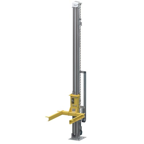 WINKEL pallet lifter with chain WPH 1U with motor in bottom position · load capacity 0.5-2.5t with WINKEL bearings · up to 15m lift height · max 2m/sec lifting speed