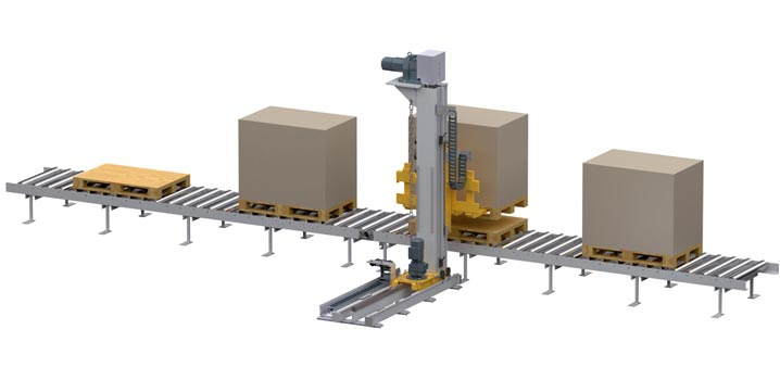 WINKEL double palletizing Type: lifting and travelling unit