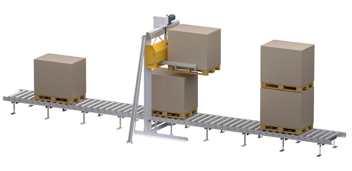 WINKEL double palletizing Type: pallet stacker with pass through function