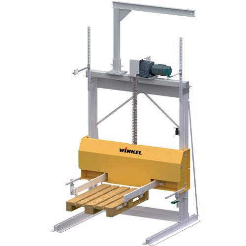 Pallet stacker with complete accessoires